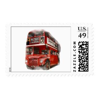 Pop Art London Red Bus Postage