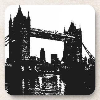 Pop Art London Tower Bridge Beverage Coaster
