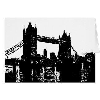 Pop Art London Tower Bridge Card