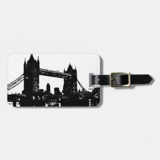 Pop Art London Tower Bridge Tag For Luggage