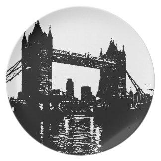 Pop Art London Tower Bridge Melamine Plate