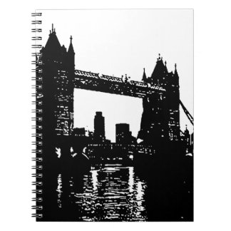 Pop Art London Tower Bridge Notebook