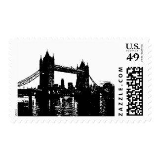 Pop Art London Tower Bridge Postage Stamp