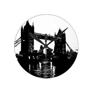 Pop Art London Tower Bridge Round Clock