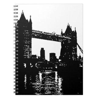 Pop Art London Tower Bridge Spiral Notebook
