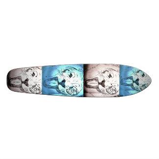 Pop art longboard skateboard deck