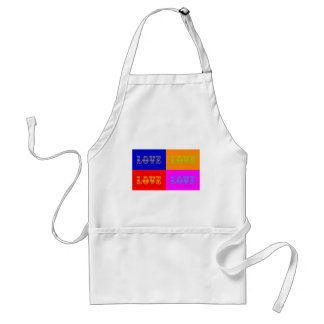 Pop Art Love Adult Apron