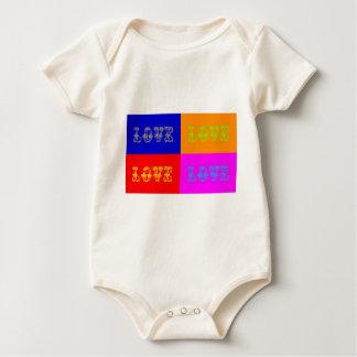 Pop Art Love Baby Bodysuit