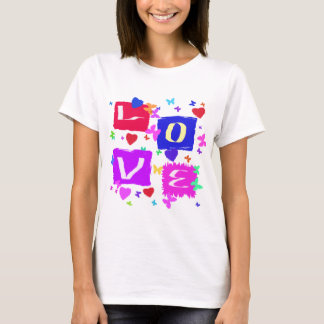 Pop Art Love Design Tee Shirt