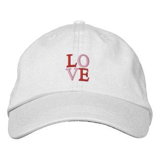Pop Art LOVE Embroidered Baseball Hat
