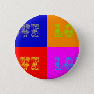 Pop Art Love Pinback Button