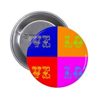 Pop Art Love Pinback Button