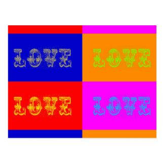 Pop Art Love Post Card