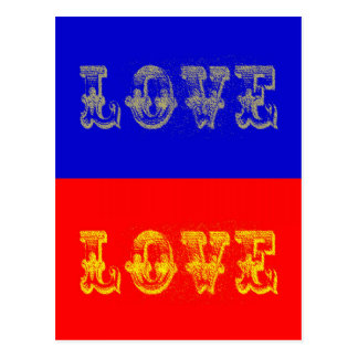 Pop Art Love Postcard