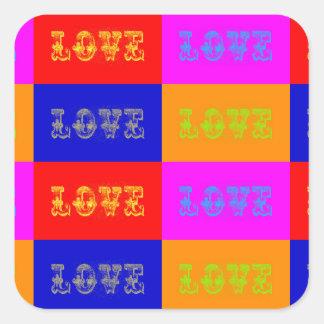 Pop Art Love Square Sticker