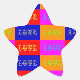 Pop Art Love Star Sticker