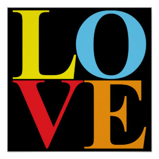 Pop Art LOVE   Typography Poster