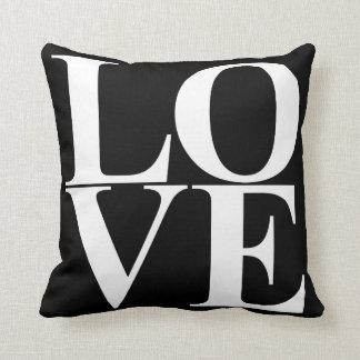 Pop Art Love Typography Throw Pillow