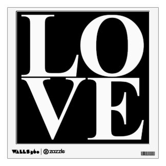 Pop Art Love Typography Wall Decal