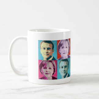 Pop Art Macron Merkel - -  Coffee Mug