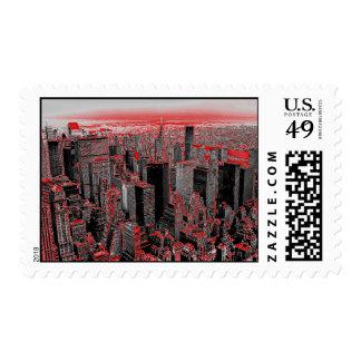 Pop Art Manhattan Postage Stamp