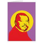 Pop Art Marcus Garvey Design Greeting Cards