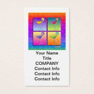 Pop Art MARGARITAS BUSINESS CARD (Vertical)