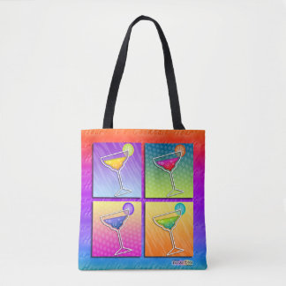 POP ART MARGARITAS TOTE BAG