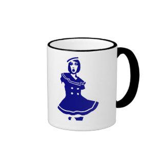 Pop Art - Maritime sexy Seemannsbraut Ringer Coffee Mug
