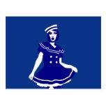 Pop Art - Maritime sexy Seemannsbraut Post Cards