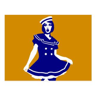 Pop Art - Maritime sexy Seemannsbraut Post Card