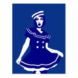 Pop Art - Maritime sexy Seemannsbraut Postcard