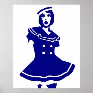 Pop Art - Maritime sexy Seemannsbraut Poster