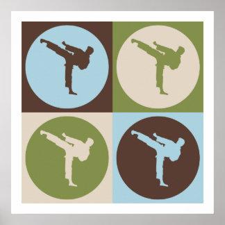Pop Art Martial Arts Poster