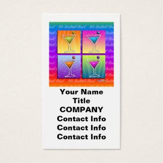 Pop Art MARTINIS BUSINESS CARD (vertical)