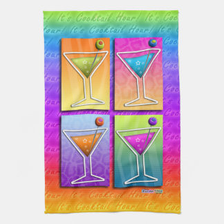 Pop Art MARTINIS Kitchen - Bar TOWEL