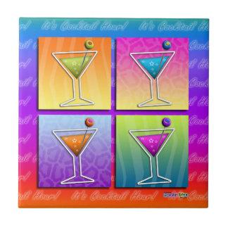 Pop Art Martinis Tile - Coaster - Trivet