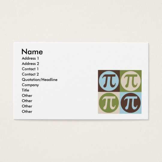 Pop Art Math Business Card