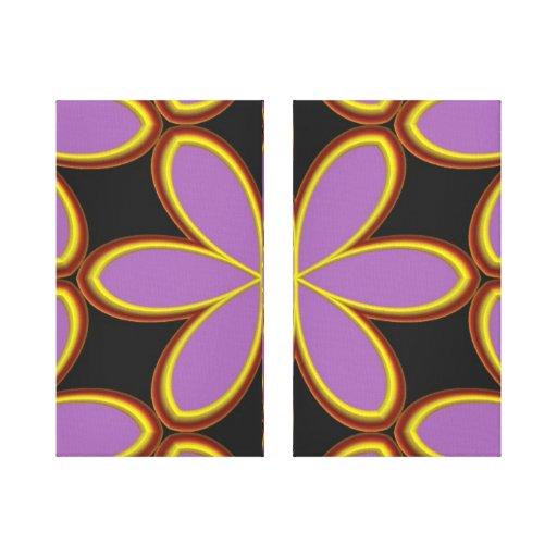 POP-ART MEGA PURPLE FLOWER WALL ART Wrapped Canvas Stretched Canvas Prints