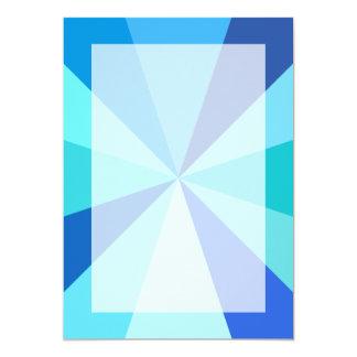 Pop Art Modern 60s Funky Geometric Rays in Blue Card