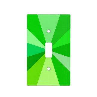 Pop Art Modern 60s Funky Geometric Rays in Green Light Switch Cover