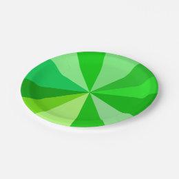 Pop Art Modern 60s Funky Geometric Rays in Green Paper Plate  sc 1 st  Zazzle & Funky Green Plates | Zazzle
