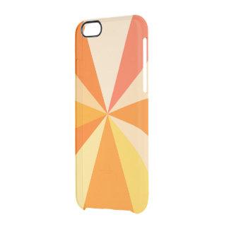 Pop Art Modern 60s Funky Geometric Rays in Orange Clear iPhone 6/6S Case