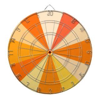 Pop Art Modern 60s Funky Geometric Rays in Orange Dart Board