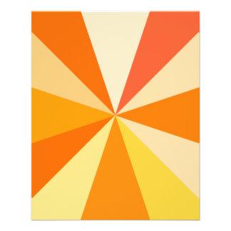 Pop Art Modern 60s Funky Geometric Rays in Orange Flyer