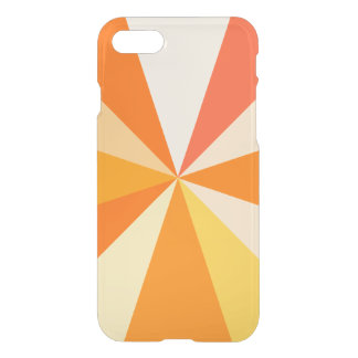 Pop Art Modern 60s Funky Geometric Rays in Orange iPhone 8/7 Case
