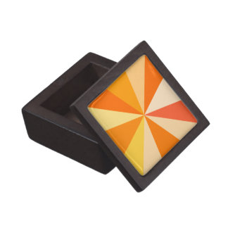 Pop Art Modern 60s Funky Geometric Rays in Orange Jewelry Box