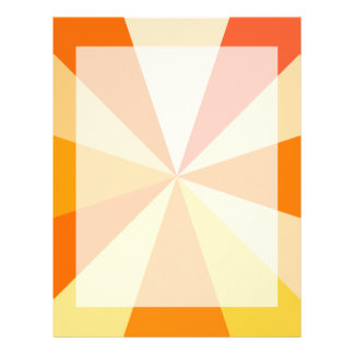 Pop Art Modern 60s Funky Geometric Rays in Orange Letterhead