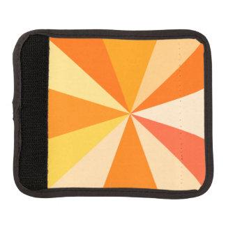 Pop Art Modern 60s Funky Geometric Rays in Orange Luggage Handle Wrap
