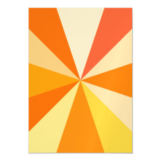 Pop Art Modern 60s Funky Geometric Rays in Orange Magnetic Card